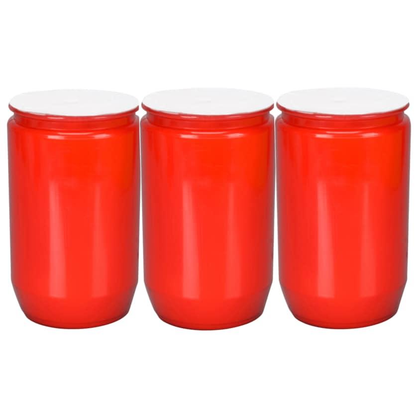 Grab-Öllichter Nr. 3 Rot 3 Stück