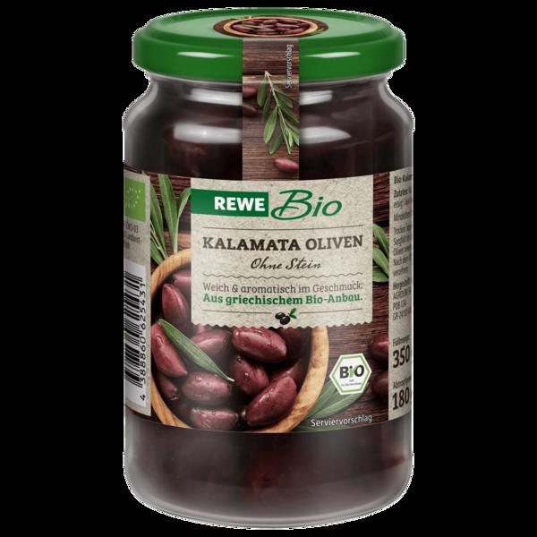 REWE Bio Kalamata Oliven ohne Stein 350g