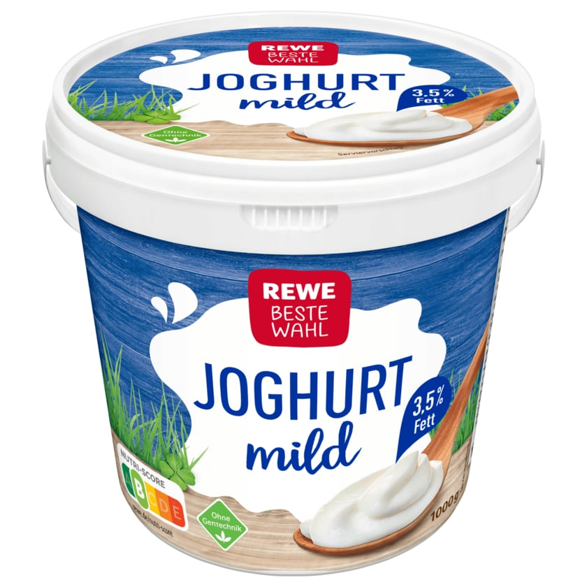 REWE Beste Wahl Joghurt mild 3,5 % Fett 1kg