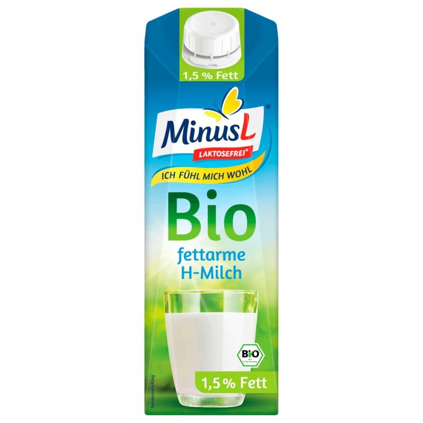 MinusL Bio fettarme H-Milch laktosefrei 1,5% 1l