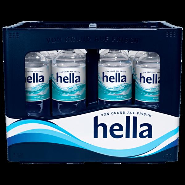 Hella Mineralwasser Medium 12x1l