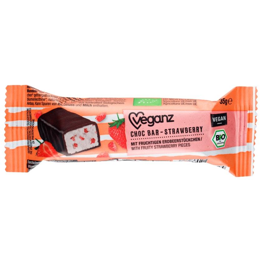 Veganz Bio Choc Bar Strawberry vegan 35g
