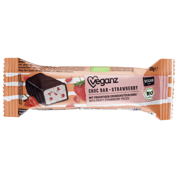 Veganz Bio Choc Bar Strawberry vegan 35g