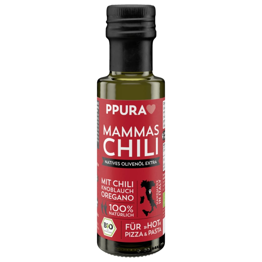Ppura Mammas Chili Natives Bio Olivenöl 100ml