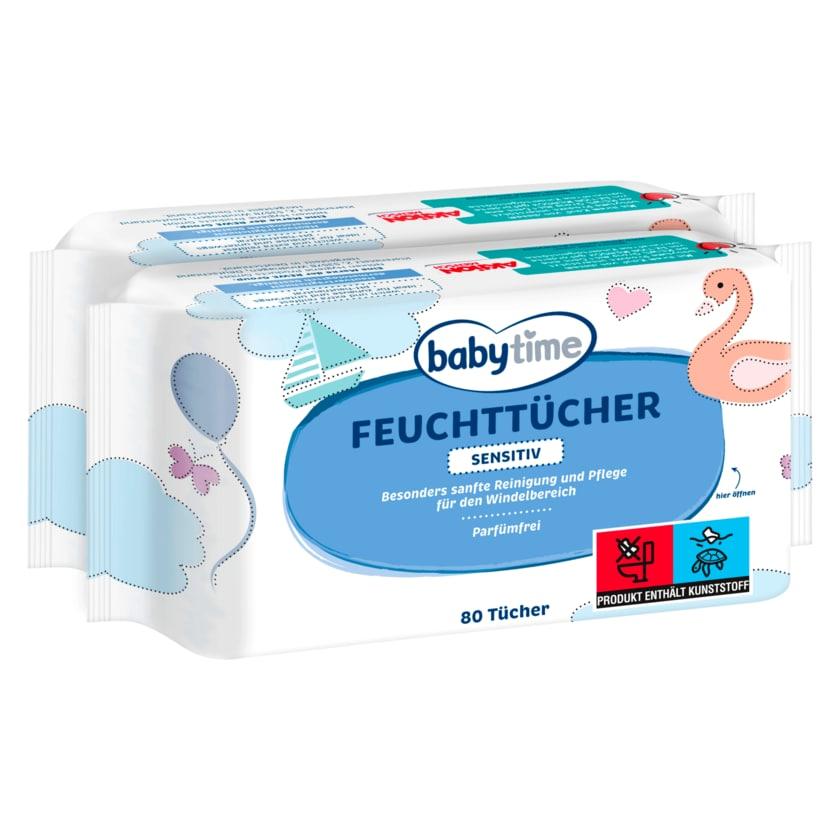 Babytime Feuchttücher sensitiv 2x80 Stück