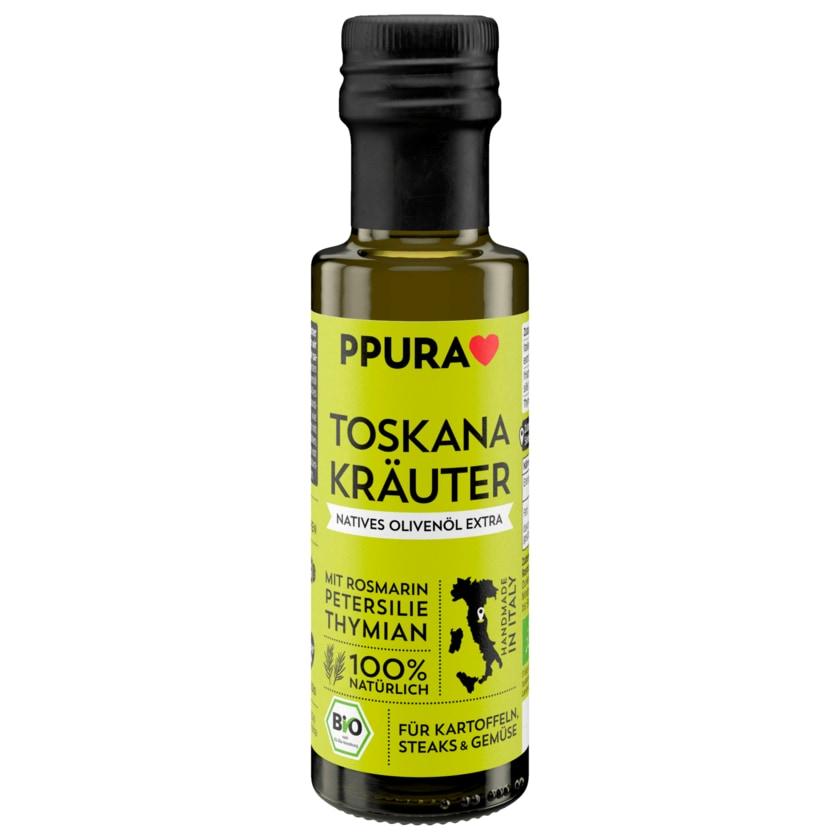Ppura Toskana Kräuter Natives Bio Olivenöl 100ml