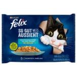 Purina felix So gut wie es aussieht Thunfisch & Kabeljau 4x85g