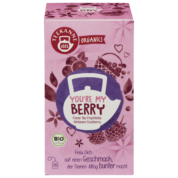Teekanne Bio Organics You're My Berry 45g, 20 Beutel
