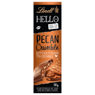 Lindt Hello Schokolade Pecan Crumble 100g