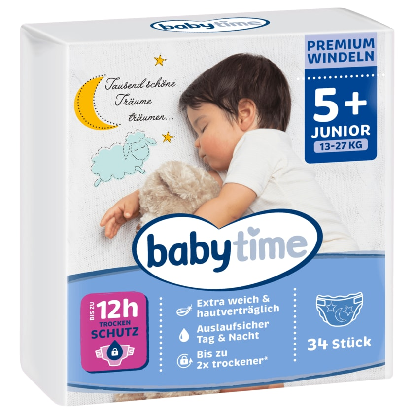 Babytime Windeln Gr.5+ 13-27kg 34 Stück