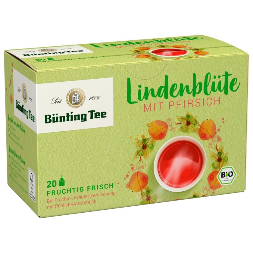 Bünting Tee Bio Lindenblüte mit Pfirsich 50g, 20 Beutel