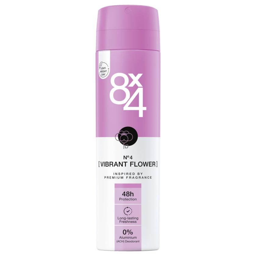 8x4 Deodorant Vibrant Flower 150ml