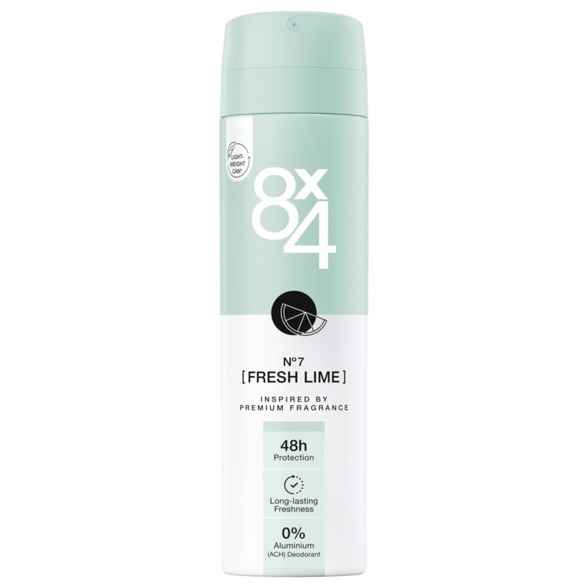 8x4 Deodorant Fresh Lime 150ml