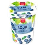 REWE Beste Wahl Soja-Joghurtalternative Heidelbeere vegan 500g