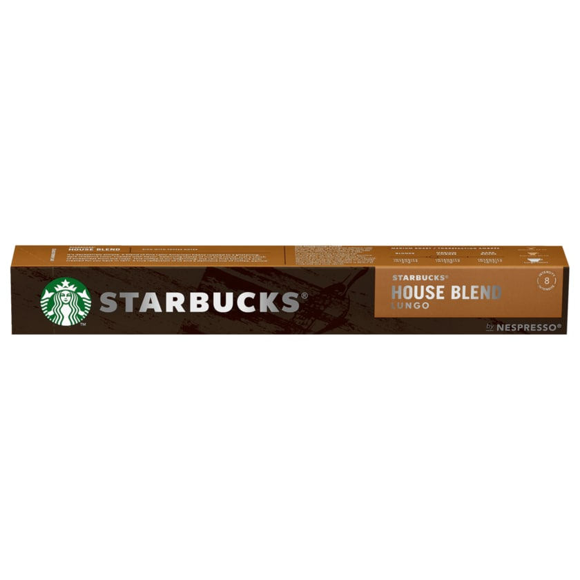 Starbucks House Blend Lungo by Nespresso 57g, 10 Kapseln