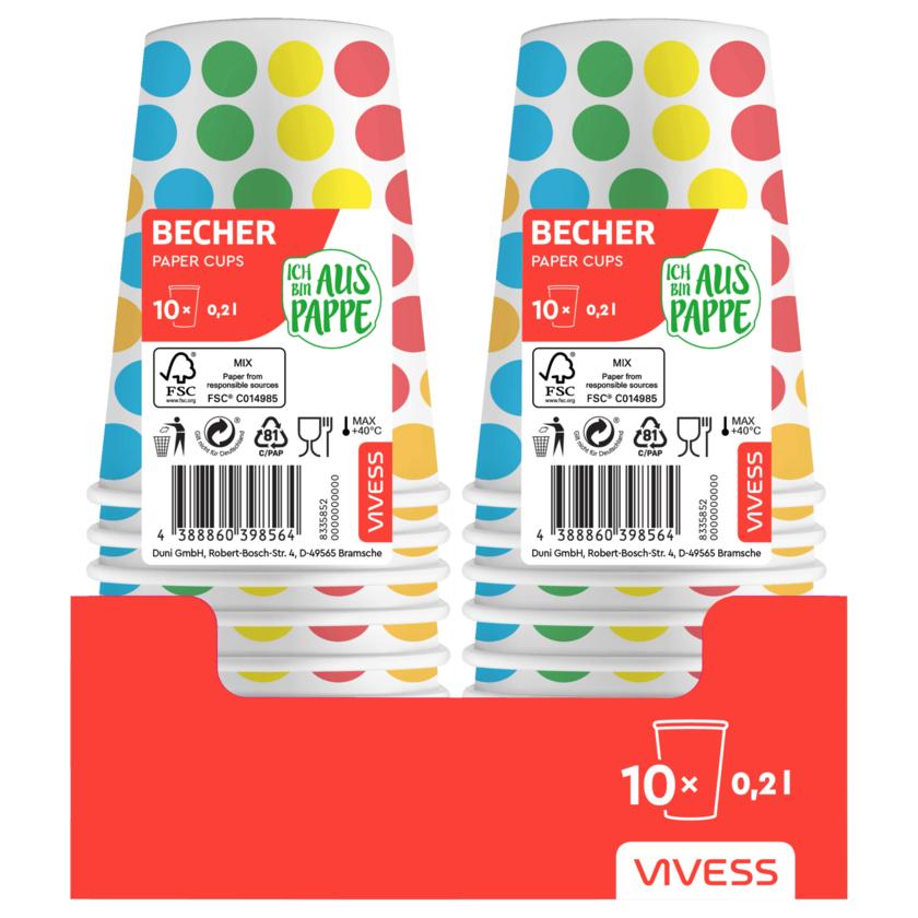 Vivess Motivpappbecher 0,2l 10 Stück