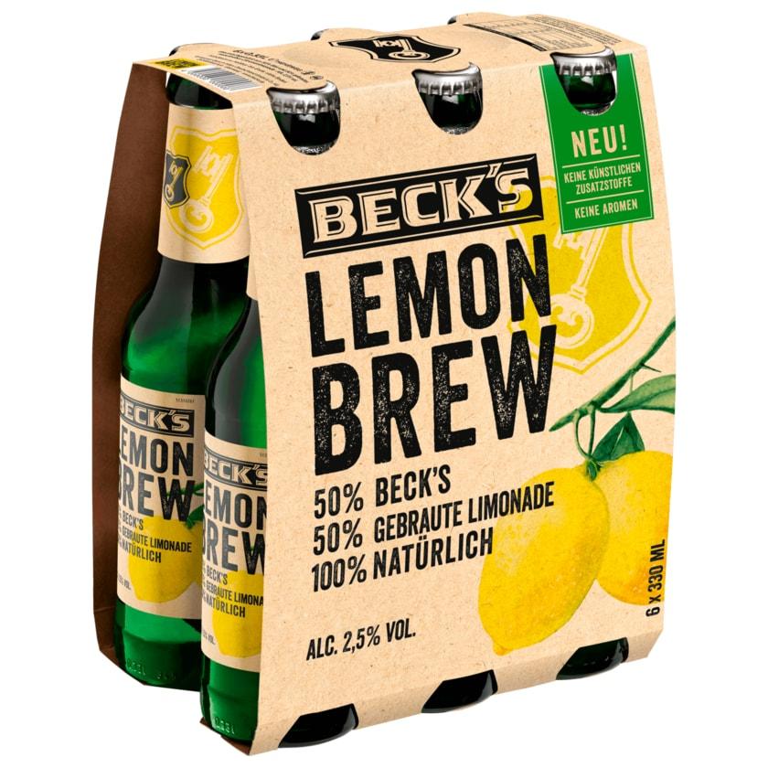 Becks's Lemon Brew Naturradler 6x0,33l