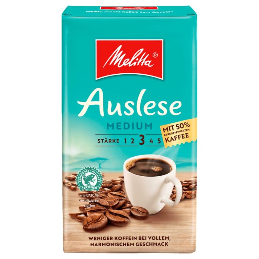 Melitta Auslese Medium mit 50% entkoffeiniertem Kaffee 500g