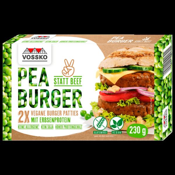 Vossko Peace Burger Vegane Burger Patties mit Erbsenprotein 230g