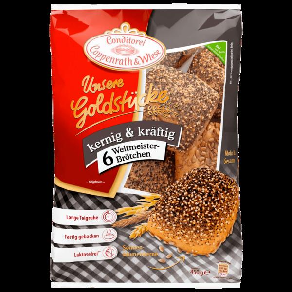 Conditorei Coppenrath & Wiese Unsere Goldstücke Weltmeister-Brötchen 450 g, 6 Stück
