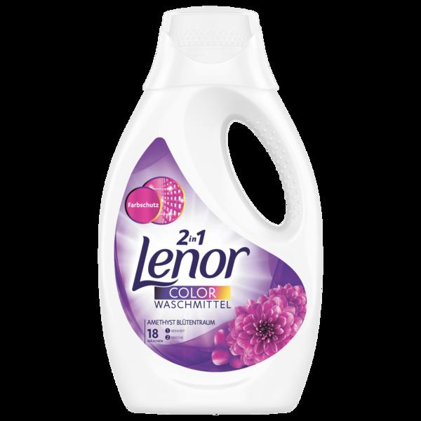 Lenor 2 in 1 Colorwaschmittel Amethyst Blütentraum Flüssig 18 WL 0.99 l