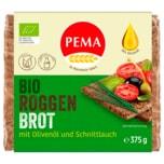 Pema Bio Roggen Brot mit Olivenöl und Schnittlauch 375g