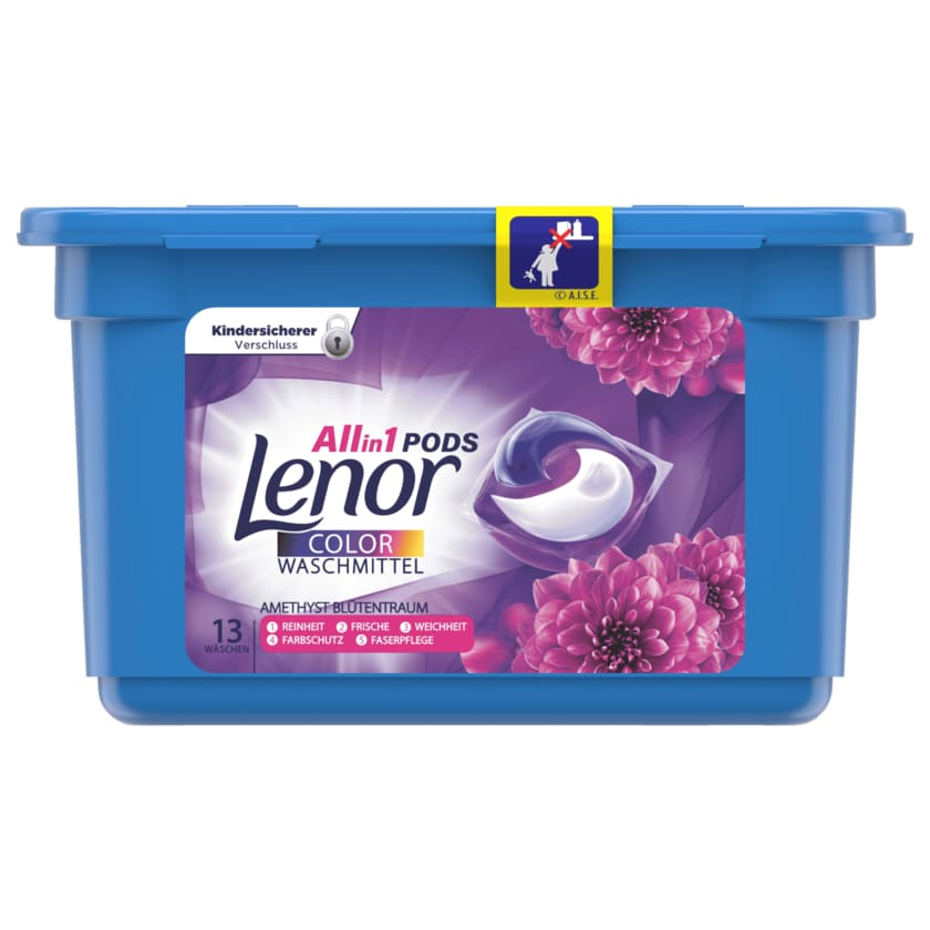 Lenor All in 1 Colorwaschmittel Pods Amethyst Blütentraum 13 WL 26.4g