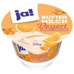 ja! Buttermilch Dessert Orange-Sanddorn 200g