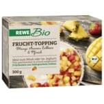 REWE Bio Frucht-Topping Mango Ananas Erdbeere & Pfirsich 300g