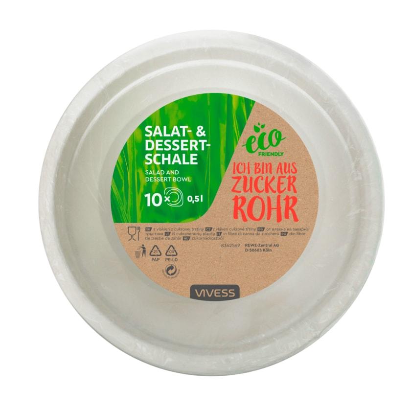 Vivess Salat- & Dessertschalen 0,5l eco friendly 10 Stück