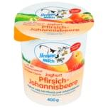Hemme Milch Joghurt Pfirsich-Johannisbeere 400g