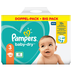 Pampers Baby Dry Gr. 3 6-10kg Big Pack 84 Stück
