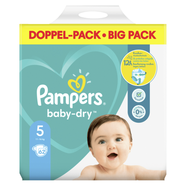 Pampers Baby Dry Gr.5 11-16kg Big Pack 62 Stück