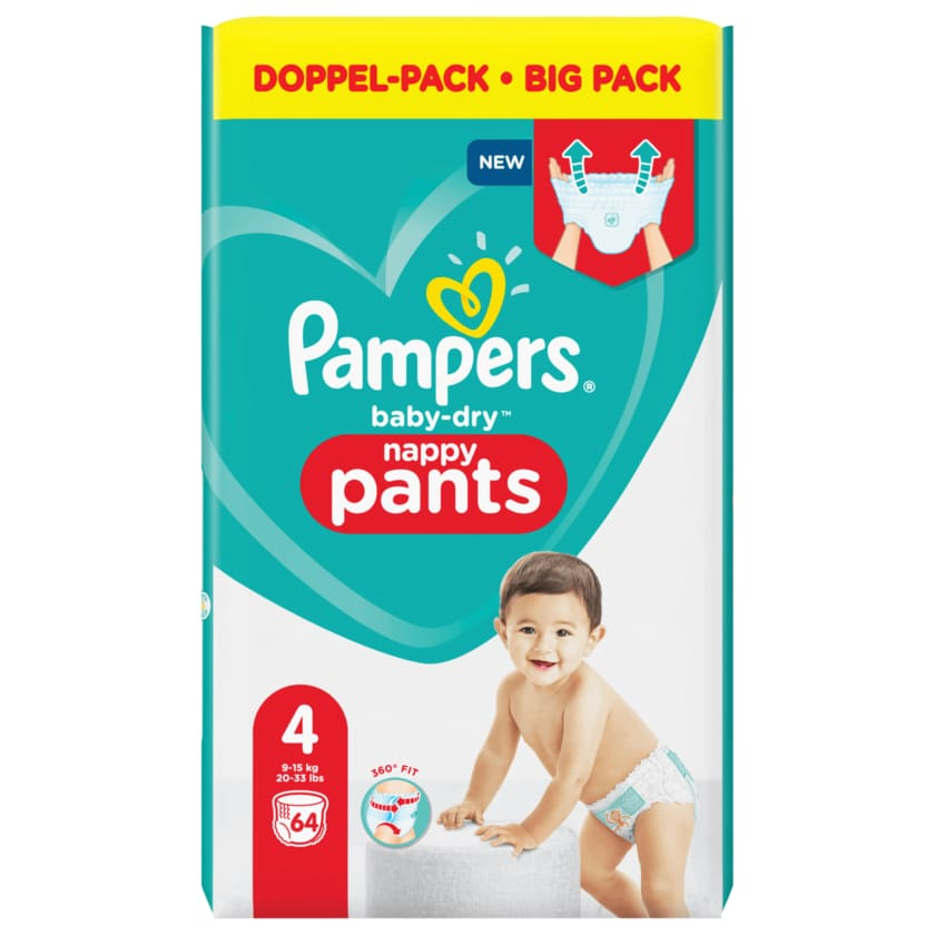 Pampers Baby Dry Pants Gr.4 Maxi 9-15kg Big Pack 64 Stück