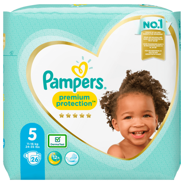 Pampers Premium Protection Gr.5 11-16kg 26 Stück