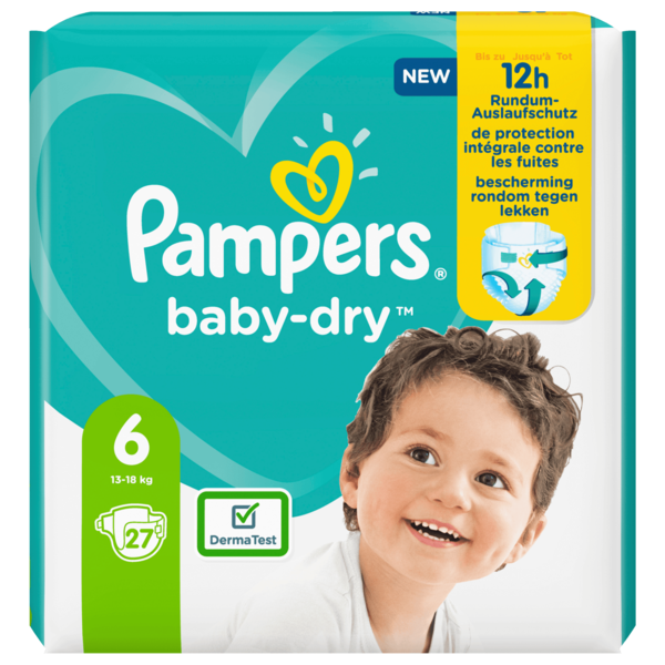 Pampers Baby Dry Gr.6 13-18kg 27 Stück