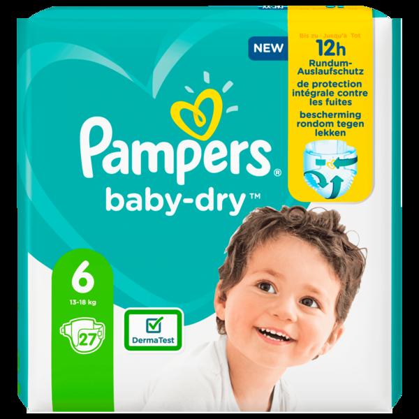 Pampers Baby Dry Gr.6 13-18kg 27 Stück