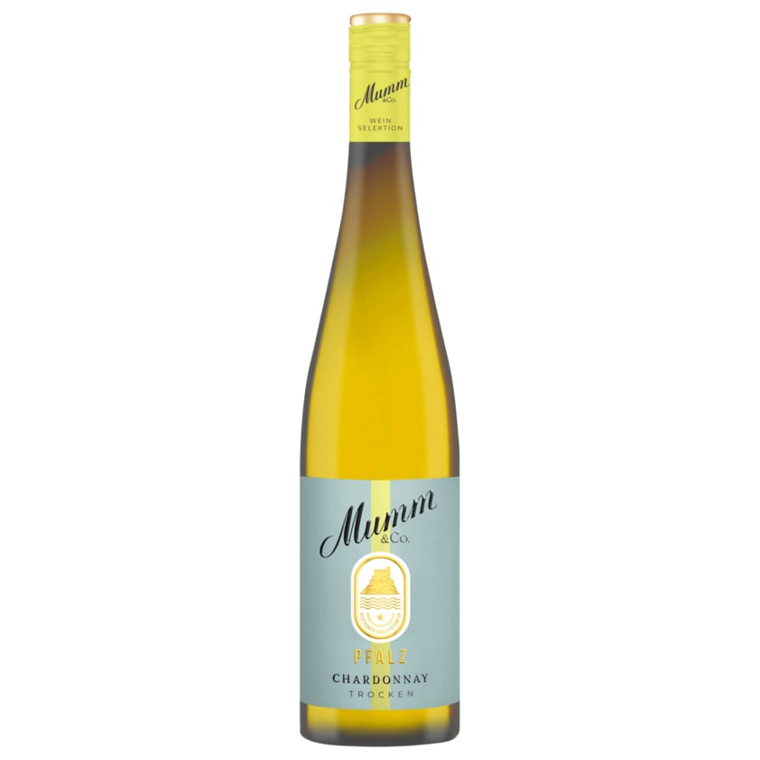 Mumm & Co. Weißwein Chardonnay Qualitätswein trocken 0,75l