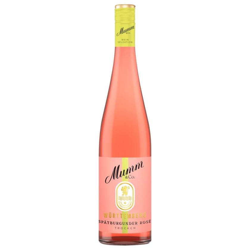 Mumm & Co. Qualitätswein Spätburgunder Rosé Trocken 0,75l