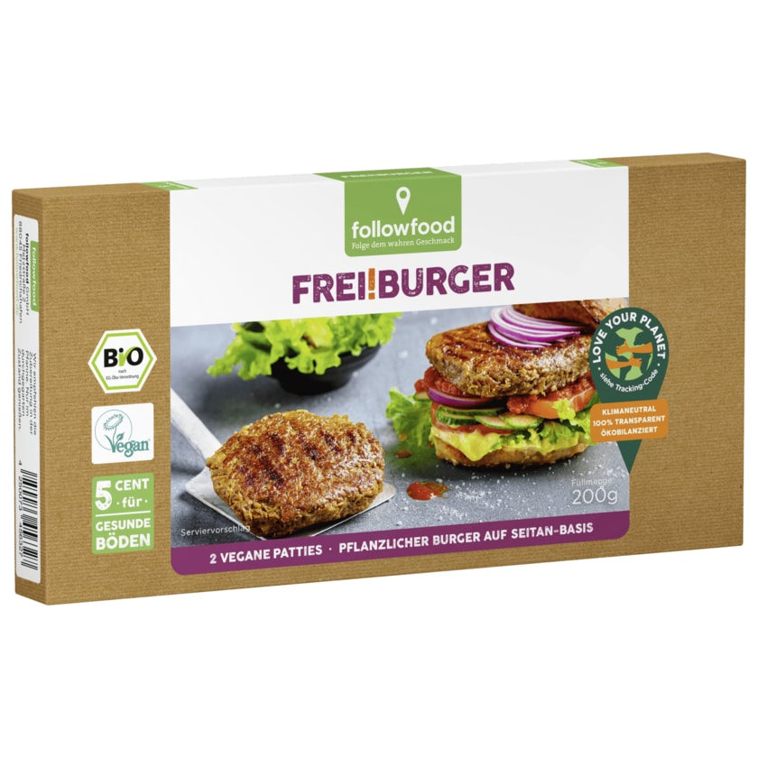 followfood Frei!Burger Bio vegan 200g