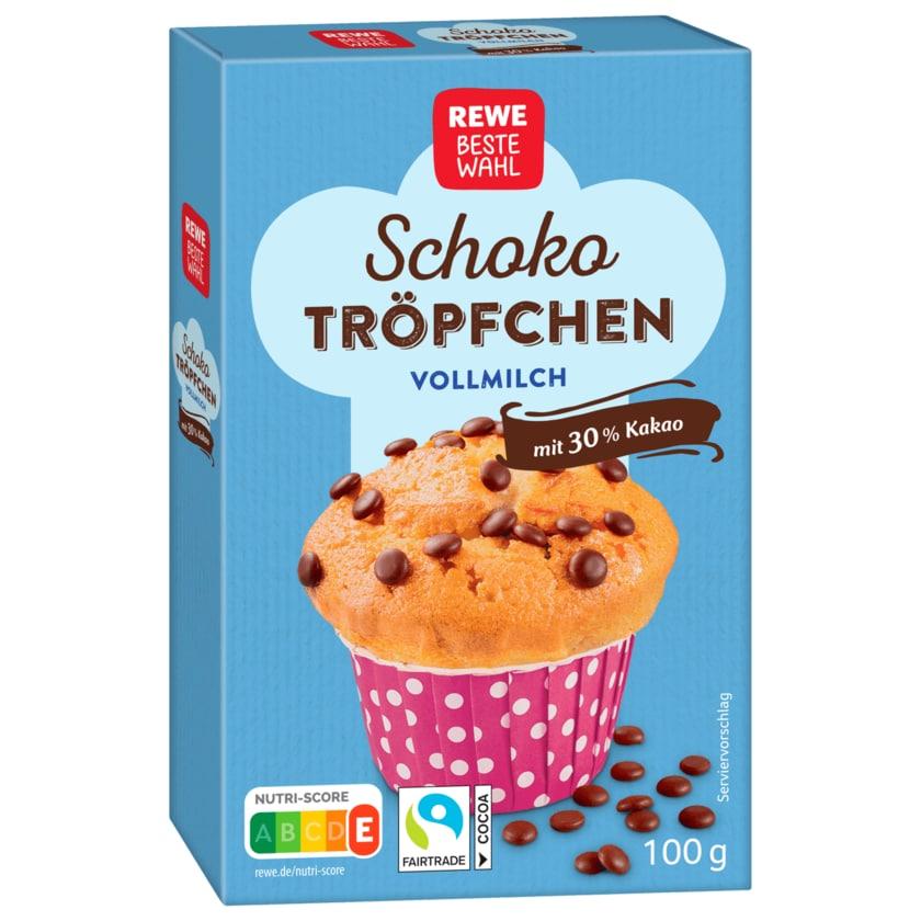 REWE Beste Wahl Schoko Tröpfchen Vollmilch 100g