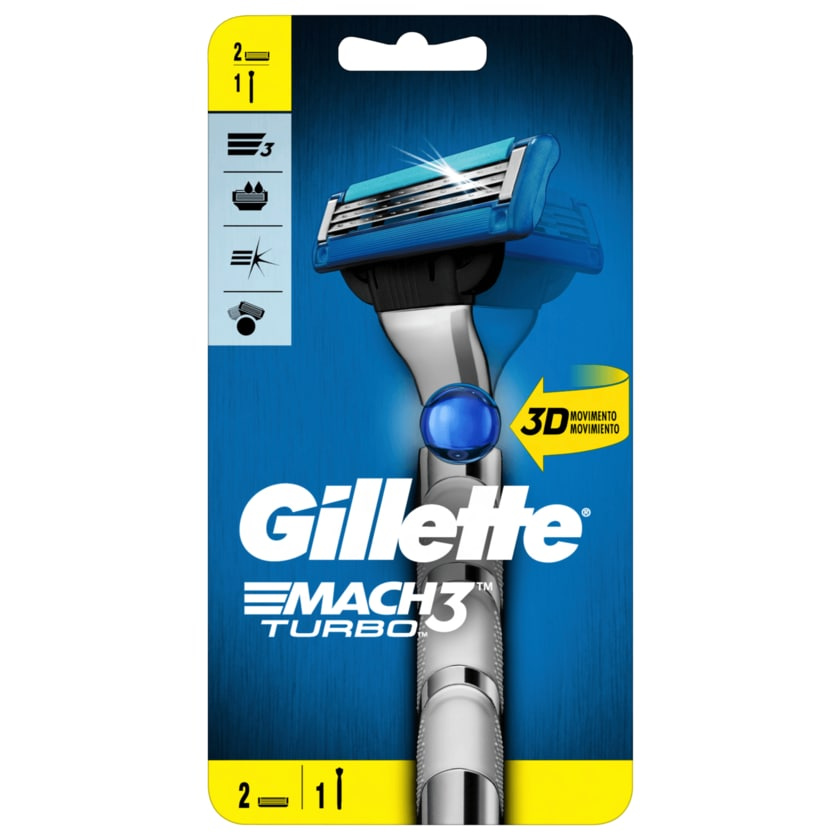 Gillette Rasierer Mach Turbo 3 1 Stück