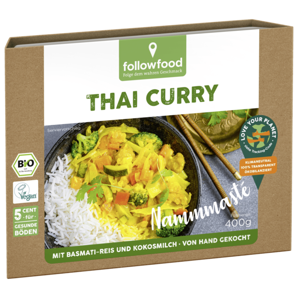 Followfood Thai Curry Bio vegan 400g
