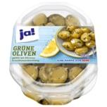 Ja! Grüne Oliven mit Zitronenfrischkäse 100g