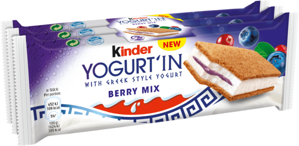 Kinder Yogurt'In Berry Mix 3x28g
