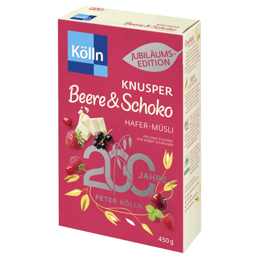 Kölln Knusper Beere & Schoko Hafer-Müsli 450g