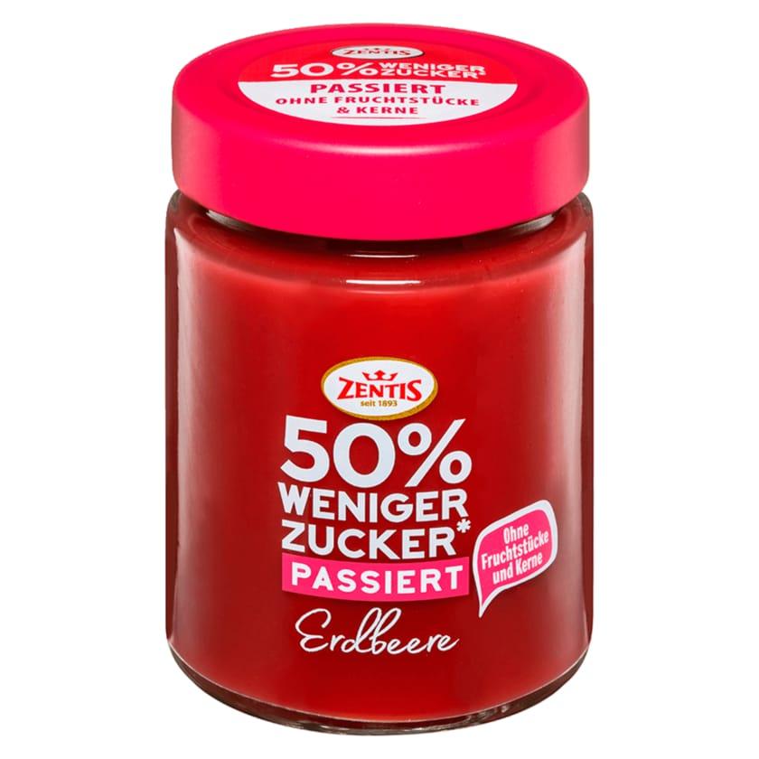 Zentis Erdbeere Konfitüre passiert weniger Zucker 195g