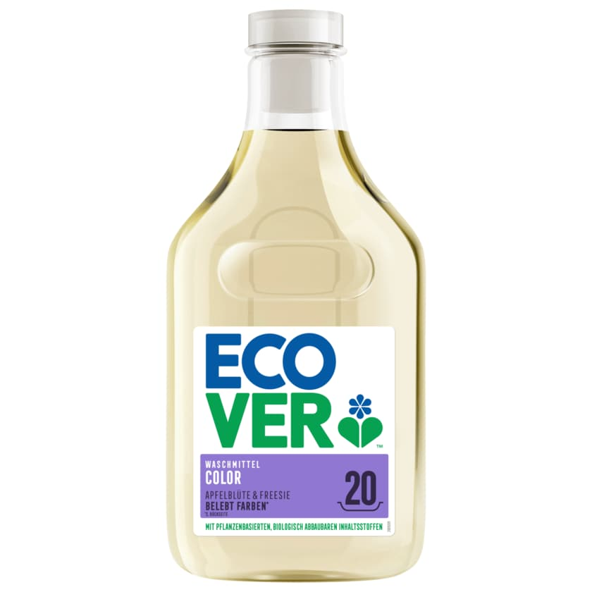 Ecover Colorwaschmittel Flüssig Apfelblüte & Fresie 1l, 20WL