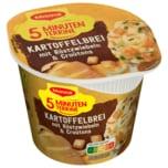 Maggi 5 Minuten Terrine Kartoffelbrei mit Röstzwiebeln & Croutons 56g