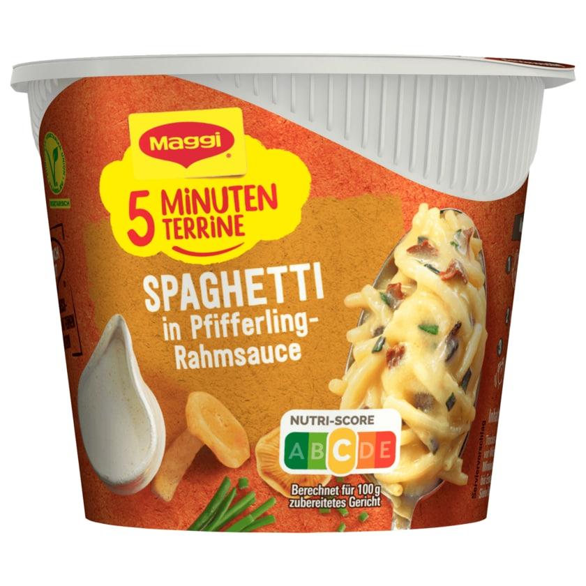 Maggi 5 Minuten Terrine Spaghetti in Pfifferling-Rahmsauce 54g